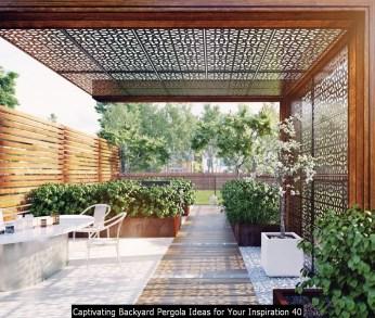 Captivating Backyard Pergola Ideas For Your Inspiration 40