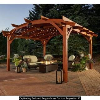 Captivating Backyard Pergola Ideas For Your Inspiration 42