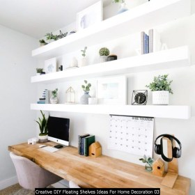 Creative DIY Floating Shelves Ideas For Home Decoration 03