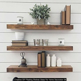 Creative DIY Floating Shelves Ideas For Home Decoration 06