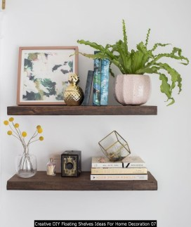 Creative DIY Floating Shelves Ideas For Home Decoration 07