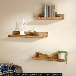 Creative DIY Floating Shelves Ideas For Home Decoration 19