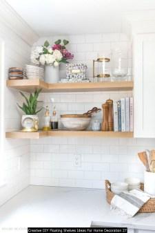 Creative DIY Floating Shelves Ideas For Home Decoration 27