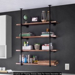Creative DIY Floating Shelves Ideas For Home Decoration 28