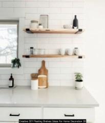 Creative DIY Floating Shelves Ideas For Home Decoration 30