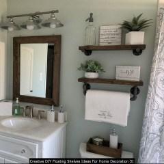Creative DIY Floating Shelves Ideas For Home Decoration 31