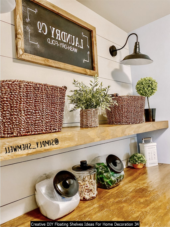 Creative DIY Floating Shelves Ideas For Home Decoration 34