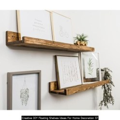 Creative DIY Floating Shelves Ideas For Home Decoration 37