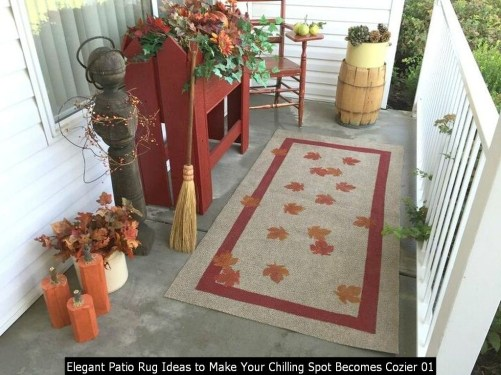 Elegant Patio Rug Ideas To Make Your Chilling Spot Becomes Cozier 01