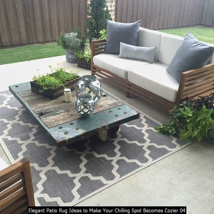 Elegant Patio Rug Ideas To Make Your Chilling Spot Becomes Cozier 04