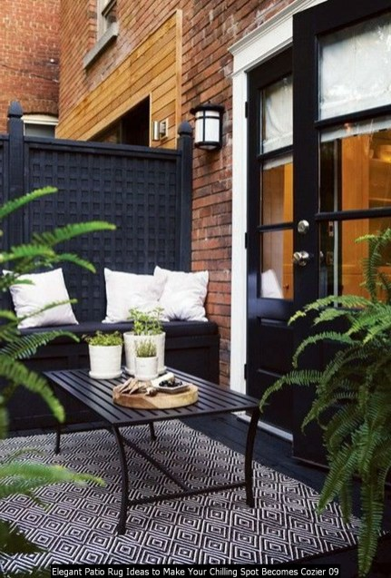 Elegant Patio Rug Ideas To Make Your Chilling Spot Becomes Cozier 09