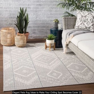 Elegant Patio Rug Ideas To Make Your Chilling Spot Becomes Cozier 22