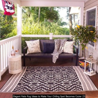 Elegant Patio Rug Ideas To Make Your Chilling Spot Becomes Cozier 23