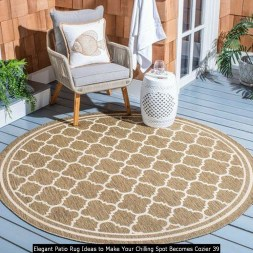 Elegant Patio Rug Ideas To Make Your Chilling Spot Becomes Cozier 39