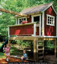 Enjoyable Outdoor Playhouses Ideas To Live Childhood Adventures 13