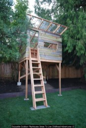 Enjoyable Outdoor Playhouses Ideas To Live Childhood Adventures 15