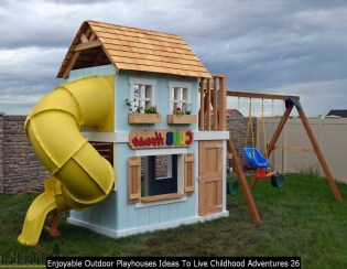 Enjoyable Outdoor Playhouses Ideas To Live Childhood Adventures 26