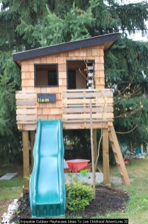 Enjoyable Outdoor Playhouses Ideas To Live Childhood Adventures 32