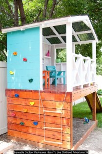 Enjoyable Outdoor Playhouses Ideas To Live Childhood Adventures 35