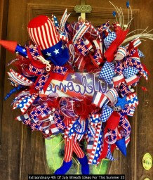 Extraordinary 4th Of July Wreath Ideas For This Summer 23
