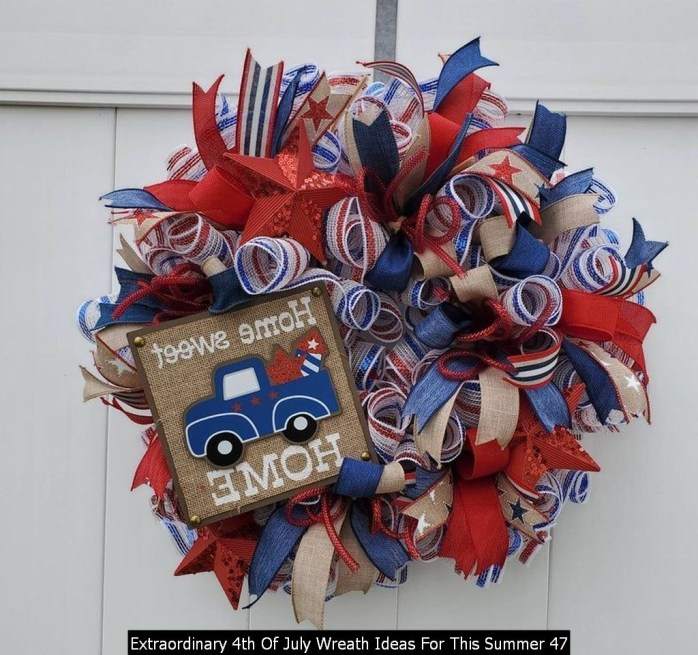 Extraordinary 4th Of July Wreath Ideas For This Summer 47