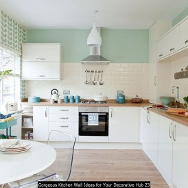 Gorgeous Kitchen Wall Ideas For Your Decorative Hub 23