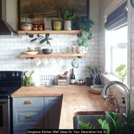Gorgeous Kitchen Wall Ideas For Your Decorative Hub 32
