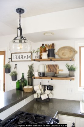 Gorgeous Kitchen Wall Ideas For Your Decorative Hub 37