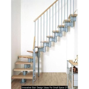 Innovative Stair Design Ideas For Small Space 27