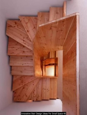 Innovative Stair Design Ideas For Small Space 40