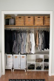 Magnificent Wardrobe Design Ideas For Your Small Bedroom 20