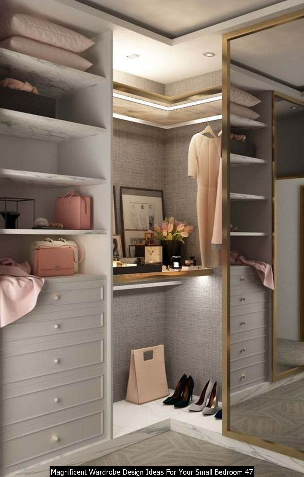 Magnificent Wardrobe Design Ideas For Your Small Bedroom 47