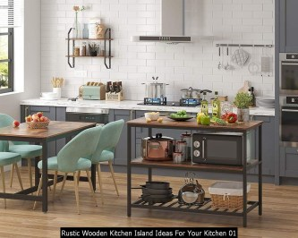Rustic Wooden Kitchen Island Ideas For Your Kitchen 01