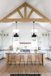 Rustic Wooden Kitchen Island Ideas For Your Kitchen 10