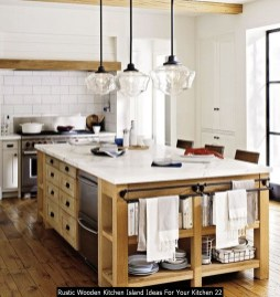 Rustic Wooden Kitchen Island Ideas For Your Kitchen 22
