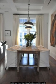 Stylish Cozy Dining Room Ideas That Everyone Will Enjoy 01