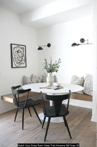 Stylish Cozy Dining Room Ideas That Everyone Will Enjoy 20