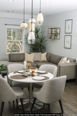 Stylish Cozy Dining Room Ideas That Everyone Will Enjoy 25