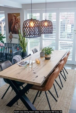 Stylish Cozy Dining Room Ideas That Everyone Will Enjoy 26