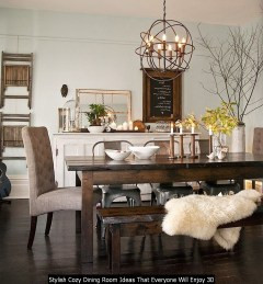 Stylish Cozy Dining Room Ideas That Everyone Will Enjoy 30