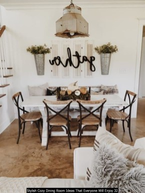 Stylish Cozy Dining Room Ideas That Everyone Will Enjoy 32