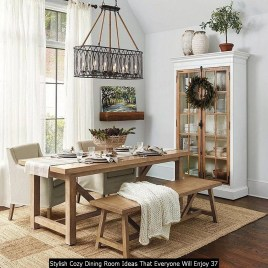 Stylish Cozy Dining Room Ideas That Everyone Will Enjoy 37