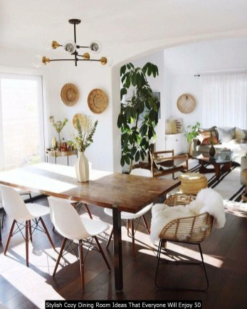 Stylish Cozy Dining Room Ideas That Everyone Will Enjoy 50