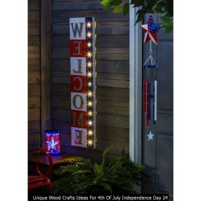 Unique Wood Crafts Ideas For 4th Of July Independence Day 24