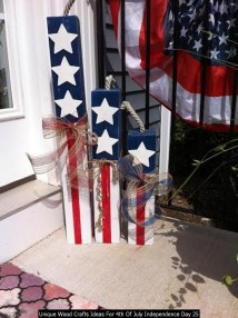 Unique Wood Crafts Ideas For 4th Of July Independence Day 25