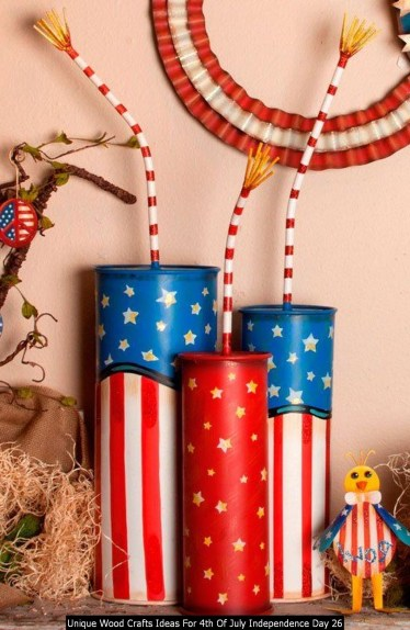 Unique Wood Crafts Ideas For 4th Of July Independence Day 26