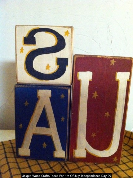 Unique Wood Crafts Ideas For 4th Of July Independence Day 29