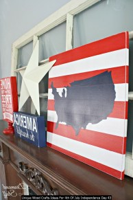Unique Wood Crafts Ideas For 4th Of July Independence Day 43