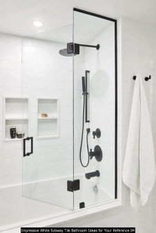 Impressive White Subway Tile Bathroom Ideas For Your Reference 04