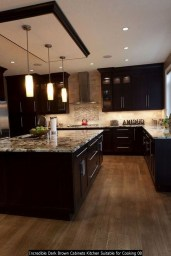 Incredible Dark Brown Cabinets Kitchen Suitable For Cooking 08